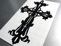 ∇十字架クロス MサイズカッティングステッカーA∇十字 シール
