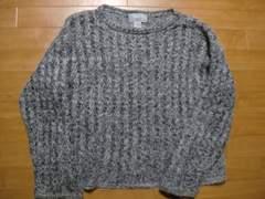 ロックテイスト 古着 モヘアセーター 男女兼用で Lサイズ