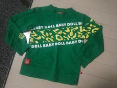 BABY DOLL◆ベビードールレオパード柄ロゴロゴロンT緑110