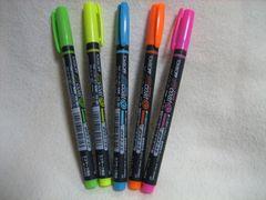 トンボ鉛筆 蛍コート マーカーペン 5色セット