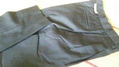 メンズスーツパンツのみ黒薄手ウエスト39股下75