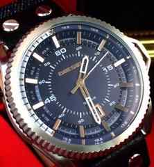ディーゼルDIESEL腕時計ロールケージラウンドデニムベルトモデル