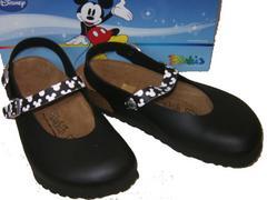 ビルケンシュトック ビルキ ディズニーミッキーマウス黒リカ36