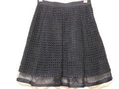 新品アプワイザーリッシェ\18360メッシュレーススカート紺色サイズ1美人百花