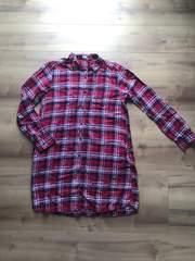 GU ロングチェックシャツ ワンピース