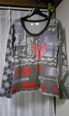 ラナンキュラス購入●刺繍ハートプリントTシャツ●美品