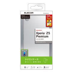 docomo Xperia Z5 Premium用 シリコンケース クリア