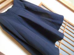 レトロガール*秋素材紺フレアスカート☆クリックポスト164円