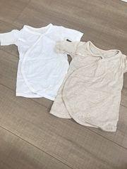 美品UNIQLObabyメッシュ肌着ロンパ2セット50〜60新生児〜