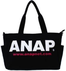 新品ANAP☆ロゴ 2WAY マザーズバッグ ショルダー 黒 アナップキッズ