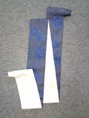 浴衣ユカタの袋帯青花ラメ×白ボーダーラメ美品