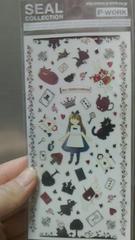 新品★『不思議の国のアリス』チシャネコ他.可愛いシール