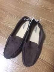 新品タグ付き オールドネイビー フラットシューズ 靴 23 茶