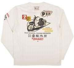 新作カミナリ雷/ロンT/白XL/KMLT-27/東洋テッドマン