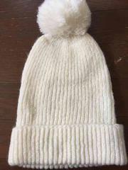 マウジー ホワイトニット帽 美品