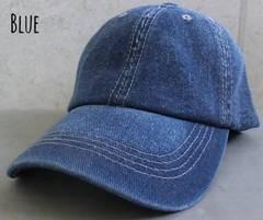 帽子 デニム カーブ キャップ ロー ダメージ ウォッシュ加工