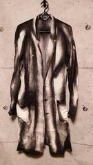 KMRIIケムリ Crepe Linen Discharge coat 2
