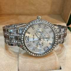 最安値!ロレックス好きの方に♪デザインクロノ 腕時計シルバー