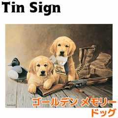 ブリキ看板 ティンサイン ゴールデン メモリー ドッグ dog 犬 雑貨 インテリア