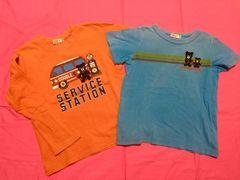 ミキハウス ダブルB ロンT&Tシャツセット サイズ120 日本製