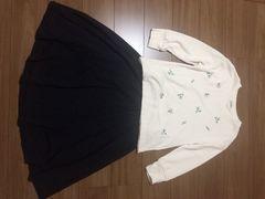 1回着用earth花刺繍トレーナー☆SM2フレアスカート