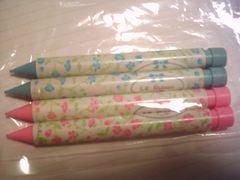 シャープペンシル 花柄 4本