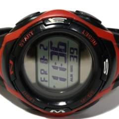 良品【980円〜】TELVA タフなデザイン 大型メンズ腕時計