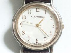 6316/LANCELランセル★定価4万円位ラウンドフェイスアラビア数字インディックス