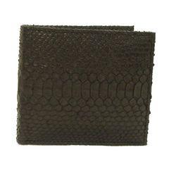サンタマリア製パイソン 財布/両面折財布艶消し T3298-PY01