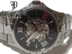 良品 FURBO フルボ【自動巻き】スケルトン 美しいメンズ腕時計