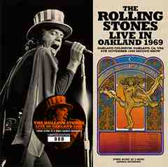 ROLLING STONES   LIVE IN OAKLAND 1969  限定ステッカー付