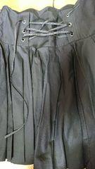 ブラックプリーツスカート