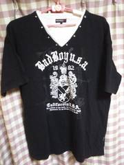 ★BAD BOY バッドボーイ オシャレデザイン Tシャツ サイズ5L 大きめ ユッタリ●