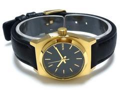 正規NIXON腕時計SMALLTIMETELLERブラックゴールド