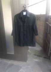 MofM マンオブムーズの七分袖シャツ ブラック エポレット付き 検ラウンジリザード