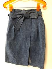 新品 デニムリボンスカート レターパック510