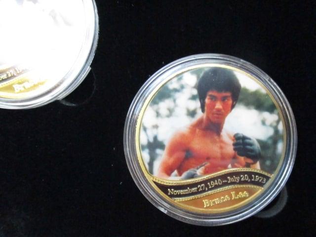 ブルース・リー没45年記念カラー金貨メダル5種類セット < タレントグッズの