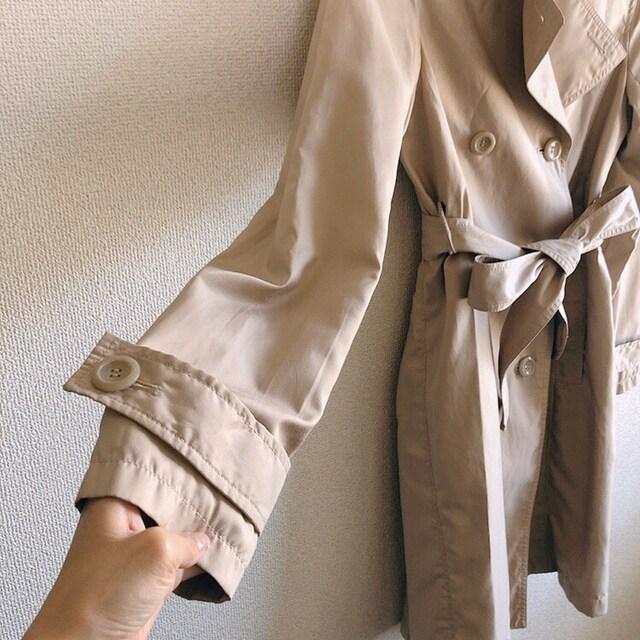 ◆定番プリーツトレンチコート◆ベージュM*冬コーデ/通勤OL★ライトアウター < 女性ファッションの