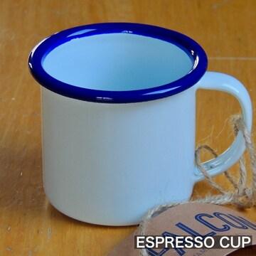 ファルコンFALCON英国伝統ホーローエスプレッソカップ ホワイト