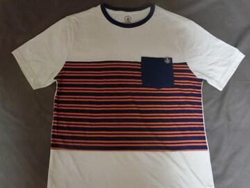 ボルコム【VOLCOM】ボーダー柄 ポケット付TシャツUS M
