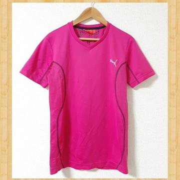 PUMA プーマ スポーツウェア Tシャツ SS XS ジャージ ピンク
