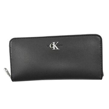 ◆新品本物◆カルバンクラインジーンズ ラウンドファスナー長財布(BK)K60K606871◆
