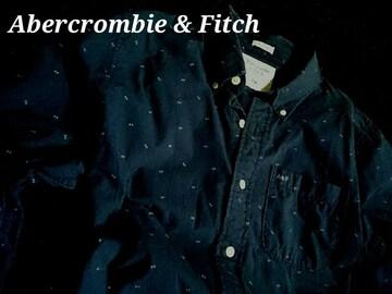 【Abercrombie & Fitch】アバクロ Vintage カジュアル ツイルシャツ XXL/Navy