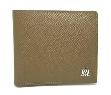 正規美品ダンヒル財布二つ折りレザーボードン型押しレサ