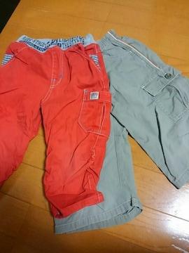 ☆USED☆半ズボン☆2枚セット☆110