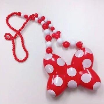 ◆TDL購入/ライティングネックレス◆ミニーちゃんリボン★光るおもちゃ♪