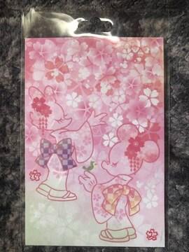 ディズニーリゾート ポストカード ミニー デイジー サクラ 桜