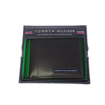 トミー ヒルフィガー 折財布 メンズ 31TL25X023-200 ブラウン