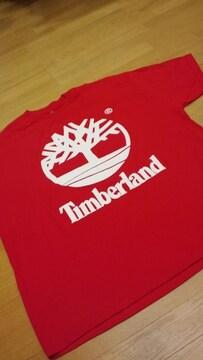 LA直輸入!TimberLandティンバーランド赤RED サイズ5XLXXXXXLフロントプリ