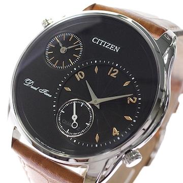 シチズン 腕時計 メンズ AO3030-08E クォーツ ブラック ブラウン